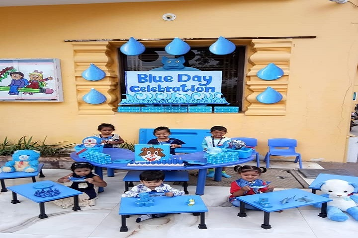 Samata International School-Blue Day