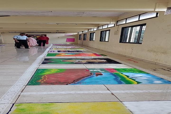 Saroj Mehta Intenational School-Rangoli Competition