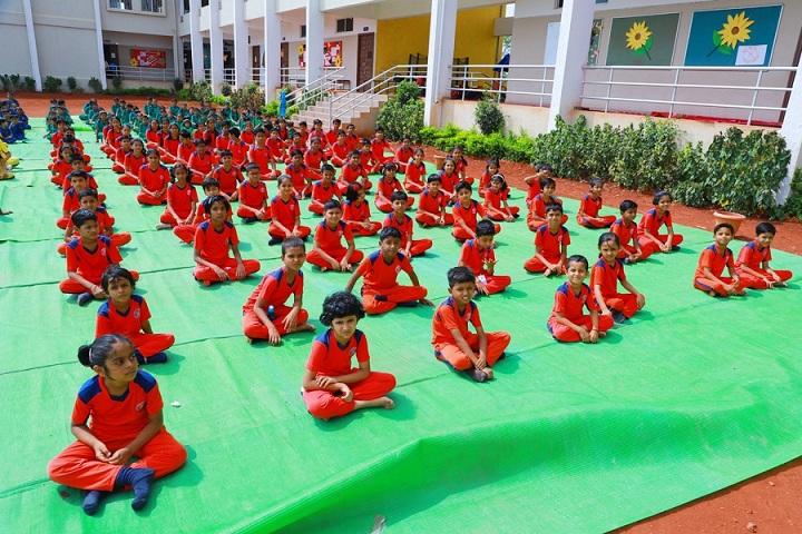Shree Shantiniketan English School Latur-Yoga Day Celebration