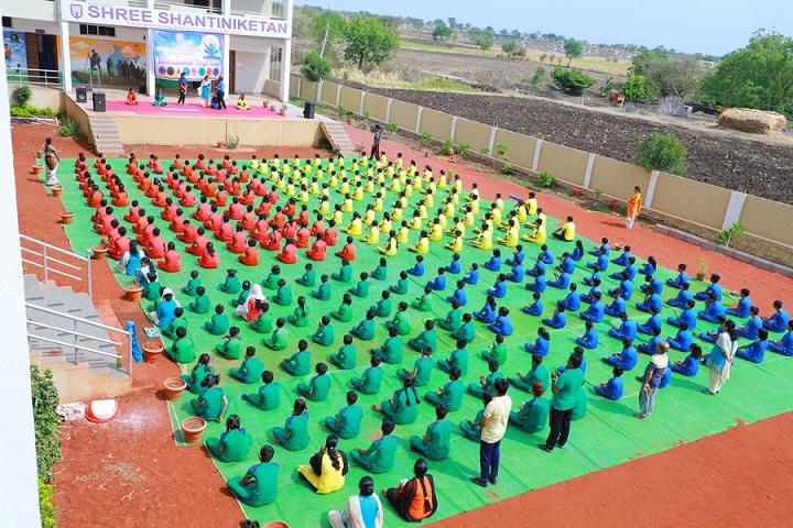 Shree Shantiniketan English School Latur-Yoga Day