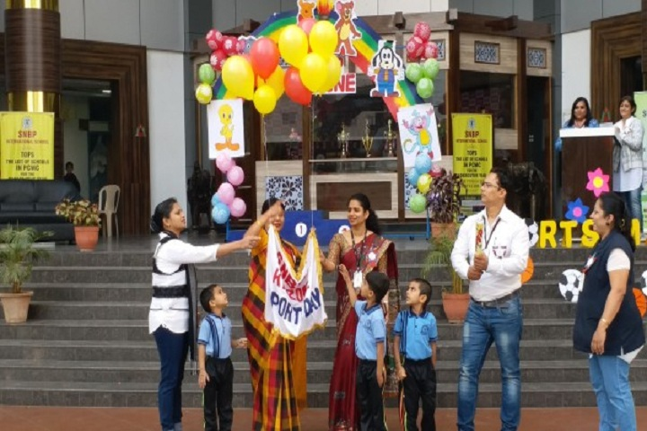 Snbp International School-Sports day celebration