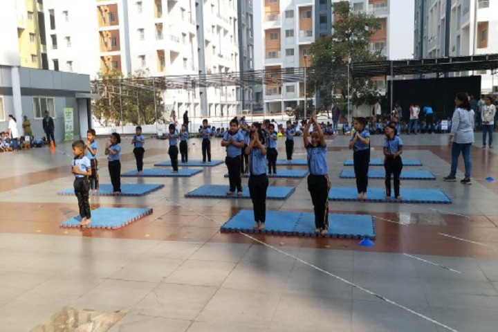 Snbp International School-Yoga class