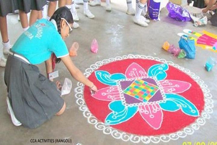 Sunflag School-Rangoli Competition