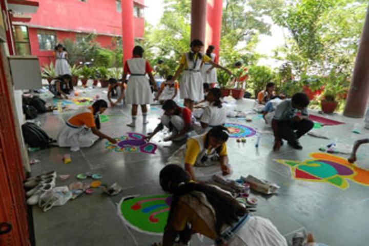 Swami Awadheshanand Public School-Rangoli