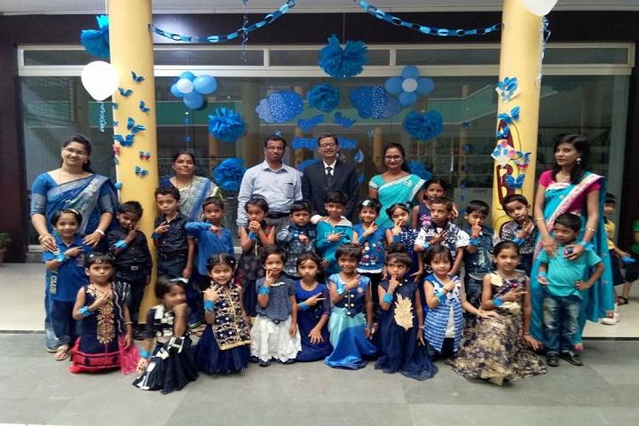 Swami Vivekanand Integration English School-Blue Day Celebration