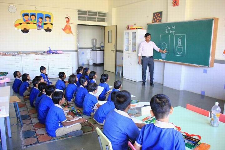 The Dwarka School-Drawing Class