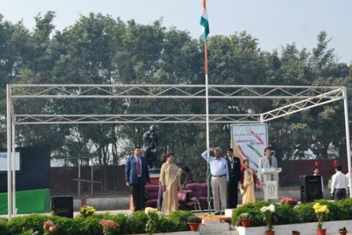 Delhi Public School-Flag Hoisting