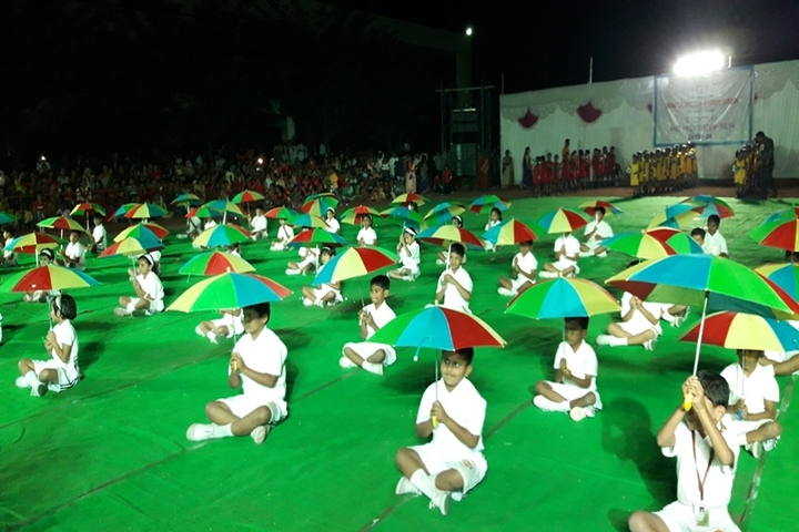 Vidya Pratishthans Indapur English Medium School- Umbrella-Dance-on-PT-Display