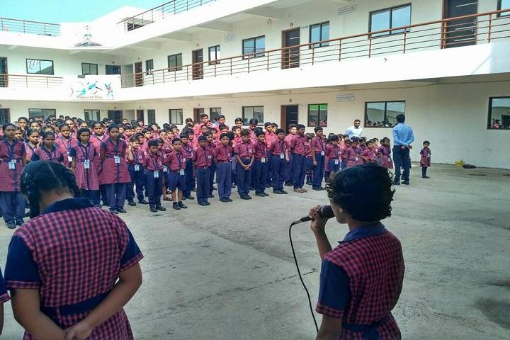 Vivekananda English School-Assembly