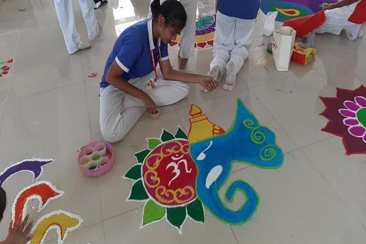 Yashoda Public School-Rangoli Competition