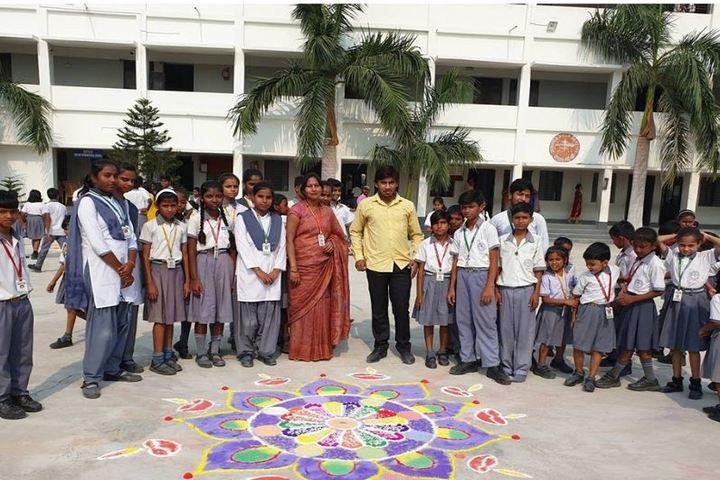 Destiny International School-Rangoli