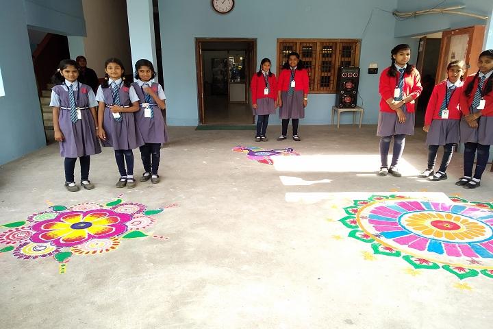 Brahmani Public School-Rangoli-Celebration