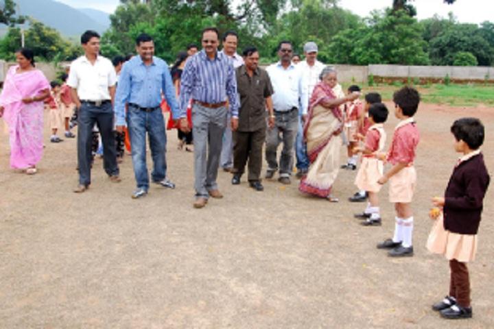 Deomali Public School, Beheraguda-welcoming guest
