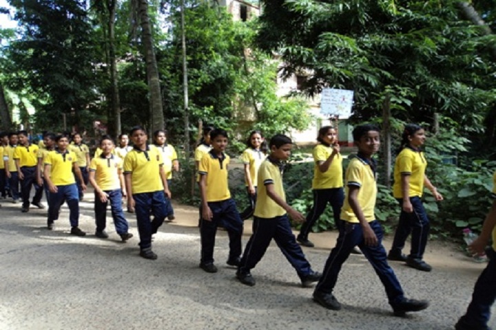Kendriya Vidyalaya-Students Rally