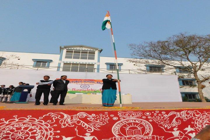 Modern Public School-Flag-Hosting