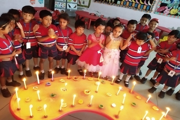 G D Goenka Public School-Diwali Activity