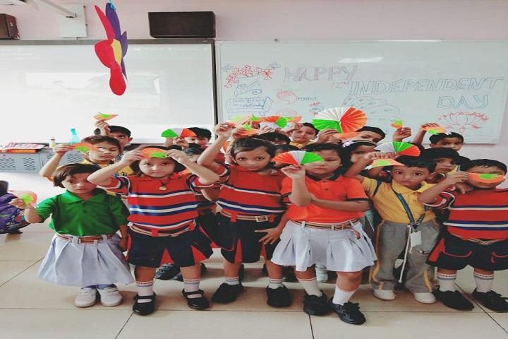 G D Goenka Public School-Tri Colour Activity