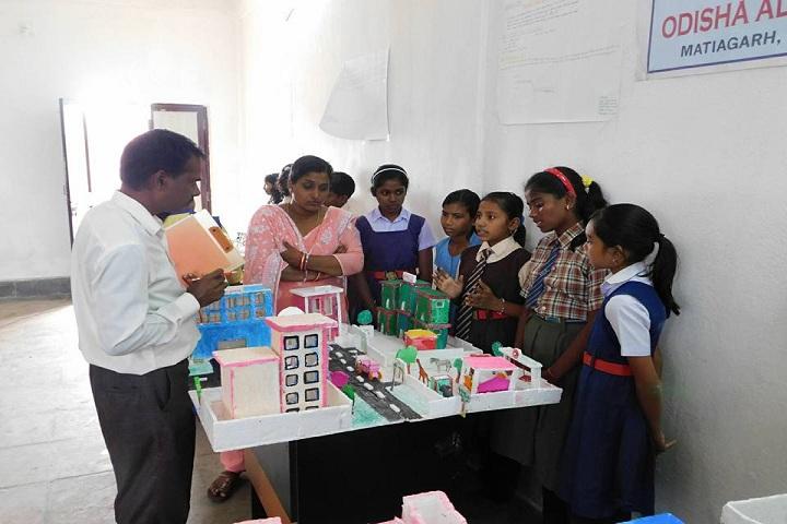 Odisha Adarsha Vidyalaya-Science exhibtion