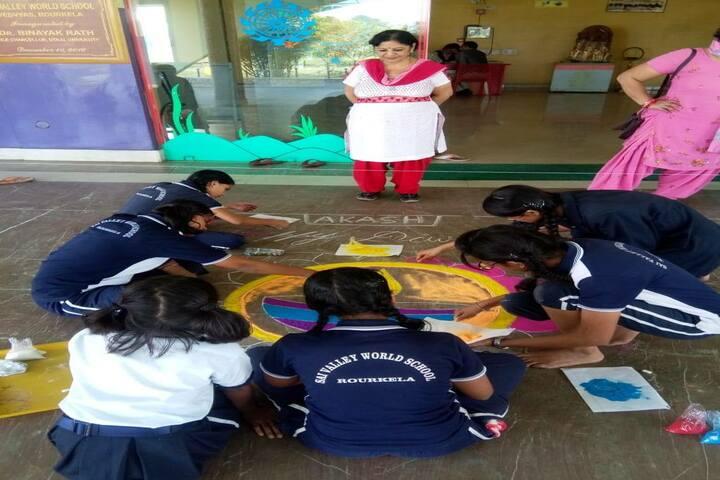Sai Valley World School-Rangoli Competition