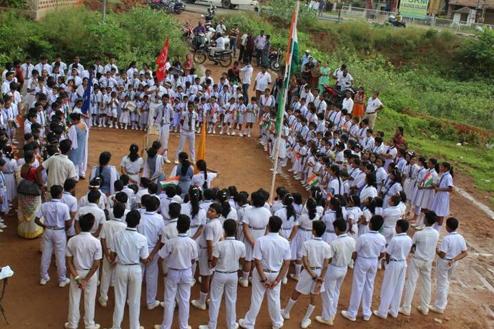 Young Phoenix Public School-Flag Hoisting