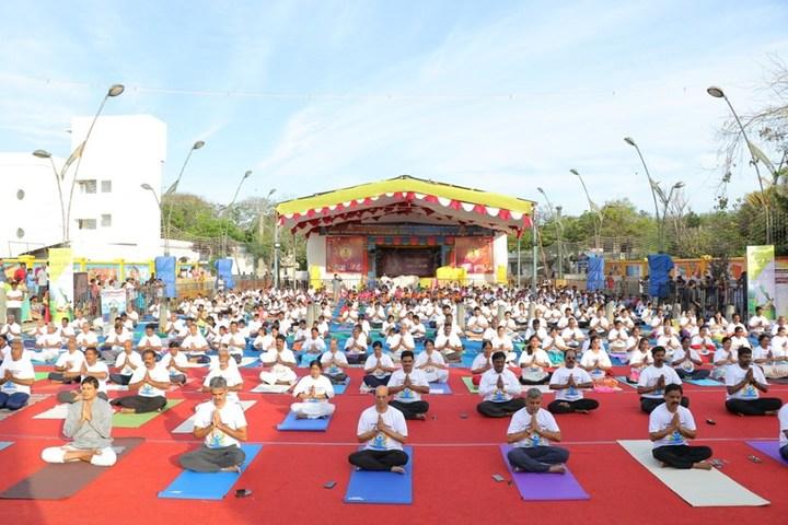 Achariya Siksha Mandir-International Yoga Day