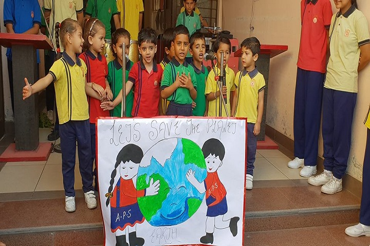 Aakarshan Public School-Earth day