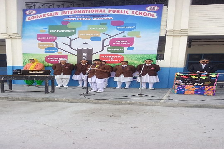 Aggarsain International Public School-Student Speech