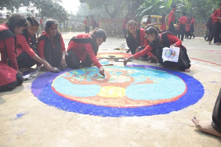 Gurukul Vidyapeeth-Rangoli Competition