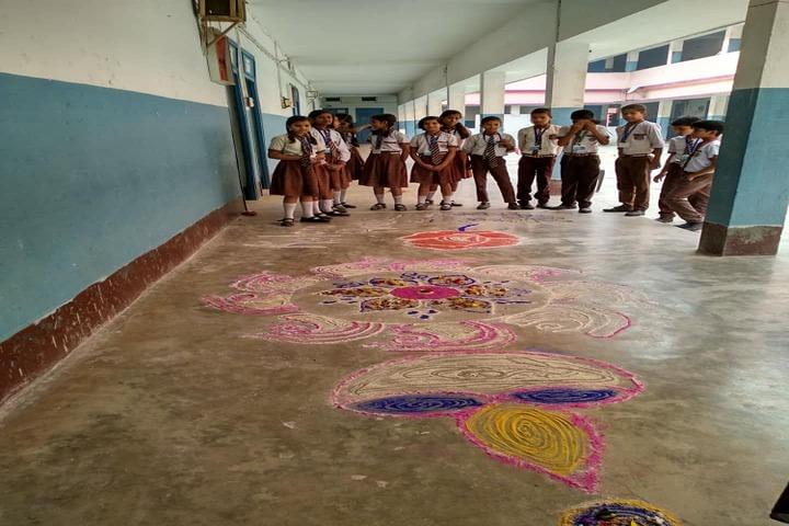 Gyan Asthali Residential School-Rangoli Competition