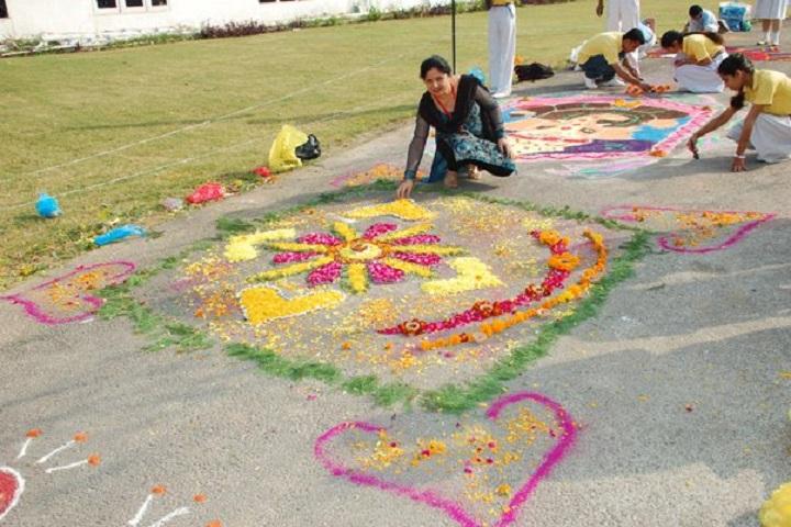 Anand Public School-Rangoli Competition