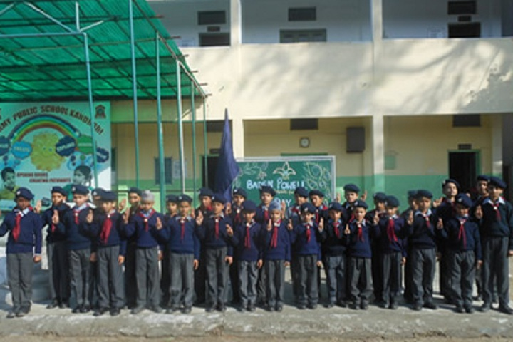 Army Public School Kandrori-Campus-View front with students
