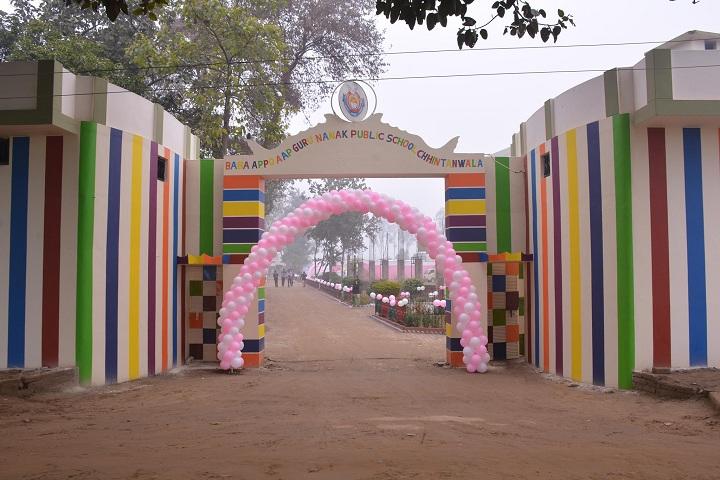 Baba Aapo Aap Guru Nanak Public School-Campus-View entrance