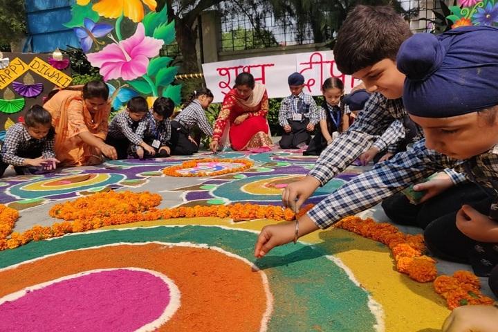 Bal Bharati Public School-Events rangoli