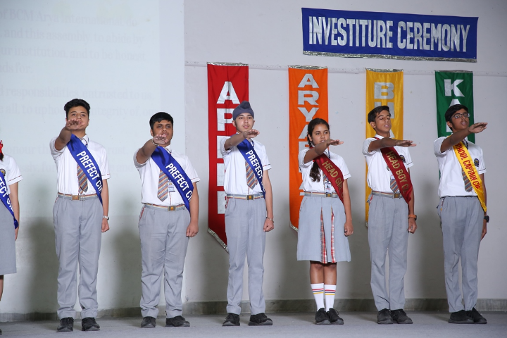 BCM Arya Model Senior Secondary School - Investiture Ceremony