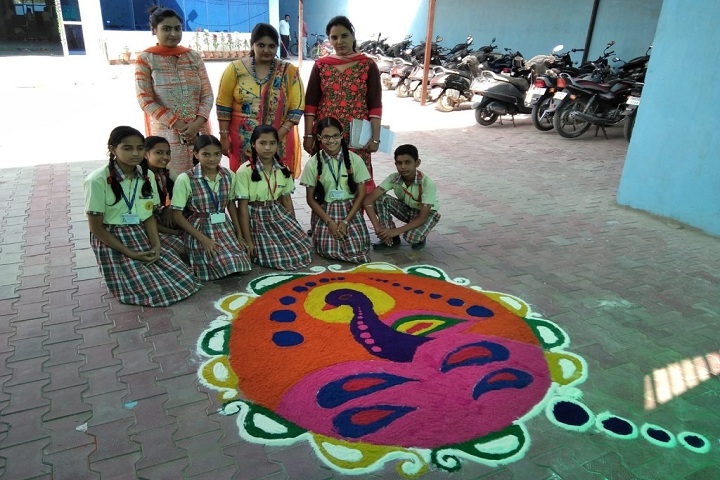 Bhartiya Public School-Events rangoli