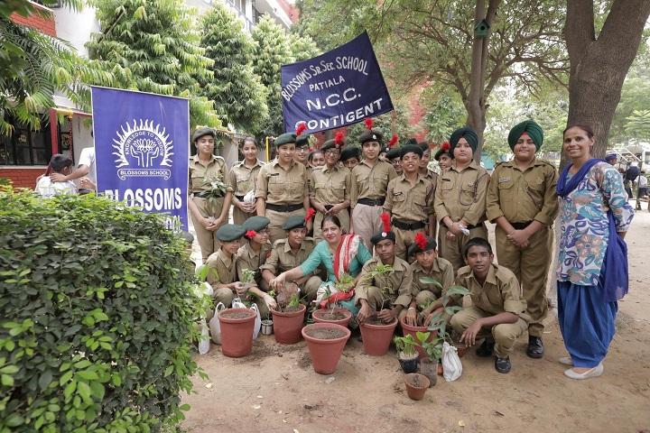 Blossoms Senior Secondary School-Celebration of Tree Plantation