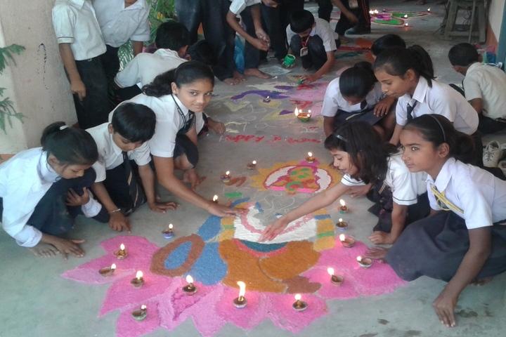 Gyandeep High School-Rangoli Competition
