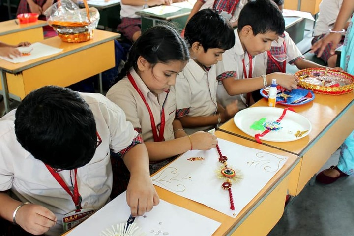 DAV Centenary Public School-Rakhi Making Competition