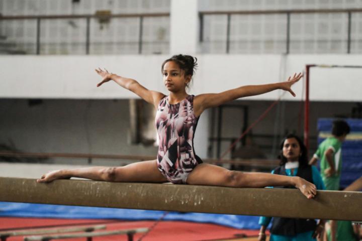 D A V Public School-Gymnastics