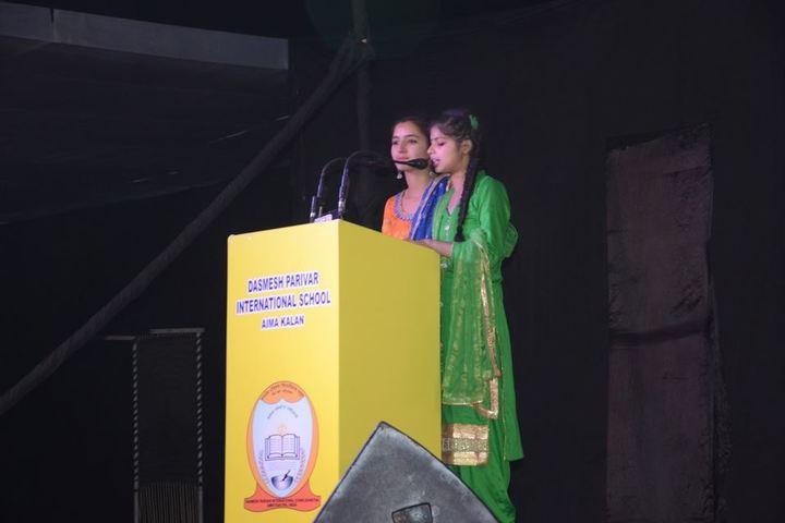 Dashmesh Parivar International School-Speech