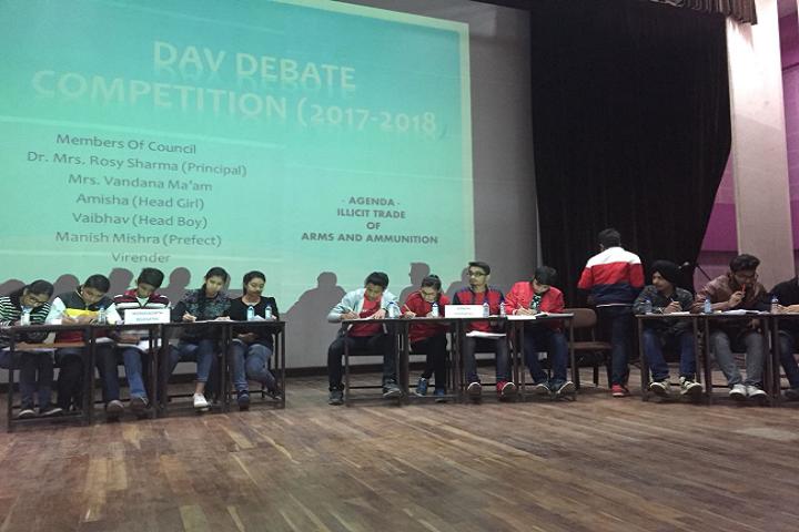 Dav Public Senior Secondary School- Debate Competition