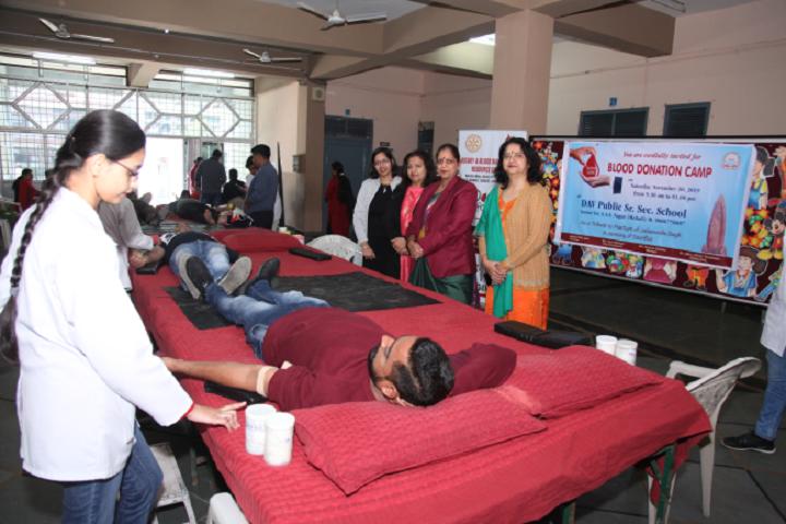 Dav Public Senior Secondary School-Blood Donation Camp