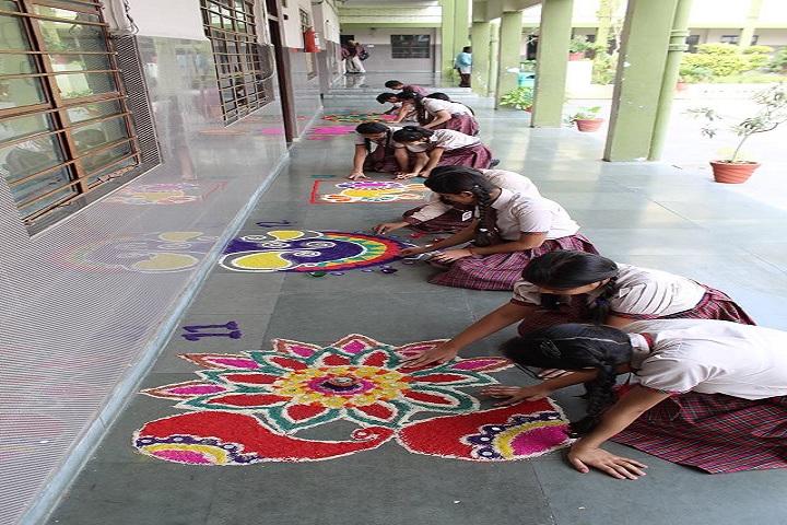 Dayanand Model School-Rangoli