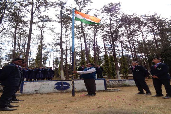 Alluri Sitaramaraju Public School-Flag hoisting