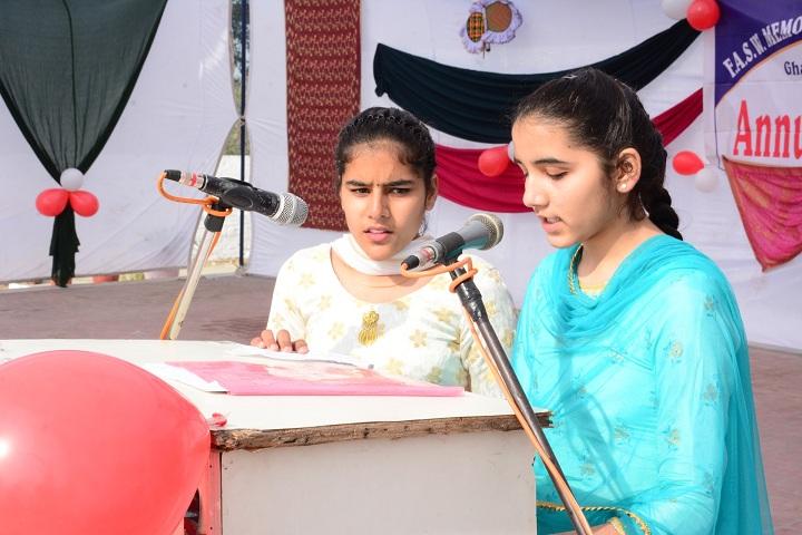 Ferozeshah Anglo Sikh War Memorial Public Senior Secondary School-Annual Function !