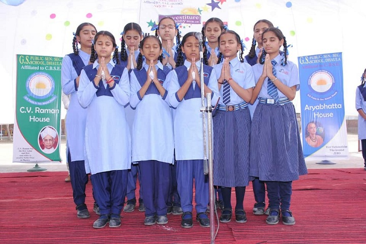 G S Public Senior Secondary School-Praying