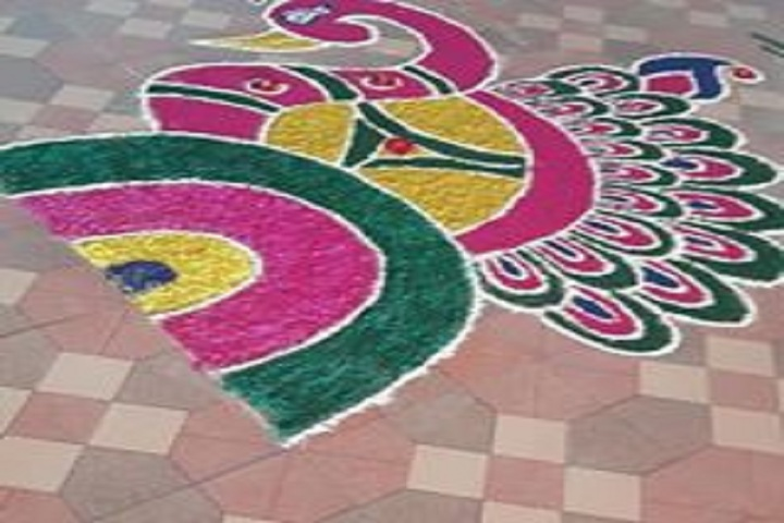 God Blessing Public School-Rangoli