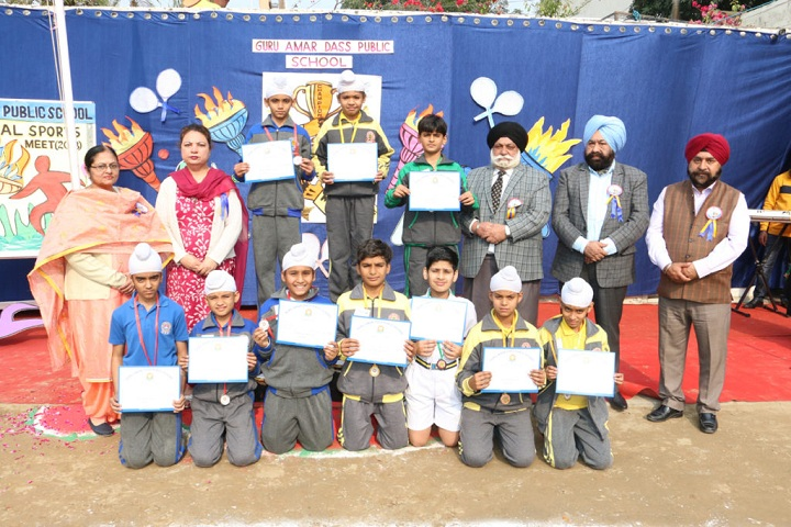 Guru Amar Dass Public School-Junior Sports Meet