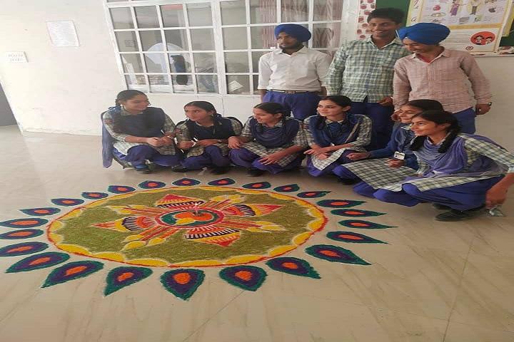 Guru Sagar Public School-Rangoli Event