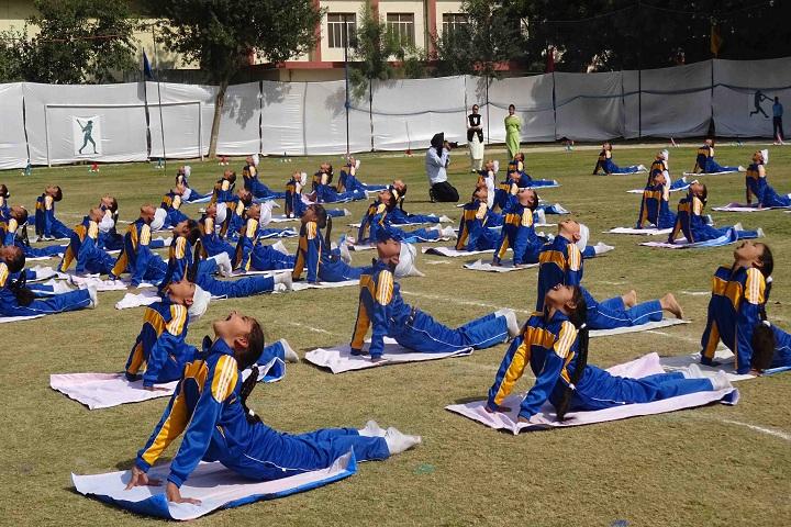 Gurunanak International Public School-Yoga Activity